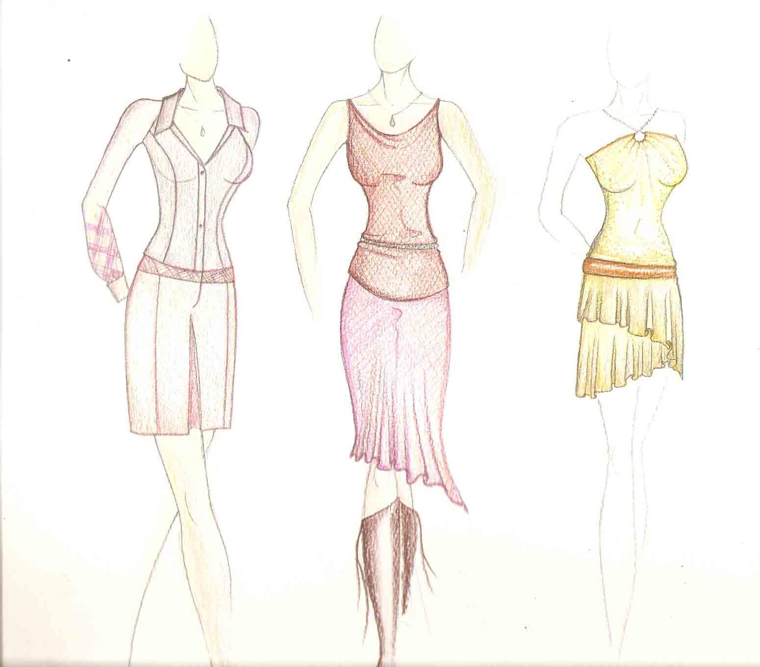 Dessin Fille Fashion Entiere