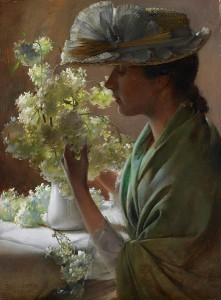 441px-Lady_with_a_Bouquet_by_Charles_Courtney_Curran_-_BMA